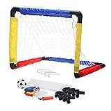 Pickwoo Fußballtor Set für Kinder Fußballtore mit Fußball,Tore und Pumpe1 Tor,Fussball Interaktiv Spielzeug Sportspaß Selbstaufstellende für Garten Indoor 52.5*42*42cm