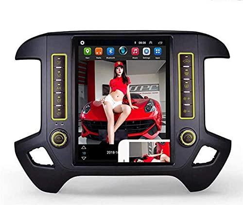 Android Sat Nav 2 DIN Car Stereo Radio para Chevrolet Silverado-GMC Sierra 2014-2018 Navegación GPS Reproductor Multimedia de 13,1 Pulgadas Receptor de Video Carplay DSP RDS