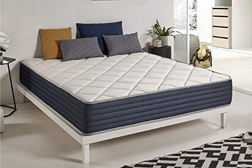 naturalex Aura | Extra Padded Layered Memory Foam + Limited Edition Blue Latex Mattress | 4ft6 Double Size 135x190cm | Dual Season Multi Zone Ergonomic Support for Back Pain | Certified Pure