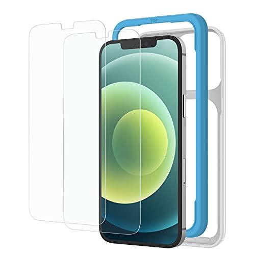 2枚セット NIMASO ガラスフィルム iPhone 12 Pro/iPhone 12 /11 / XR 用 保護 フィルム ガイド枠付き
