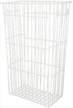 Blanc HYGIENIC - Papierkorb Fix - 60 Liter - Gitterkorb - Abfalleimer - Zum Hängen oder Stellen
