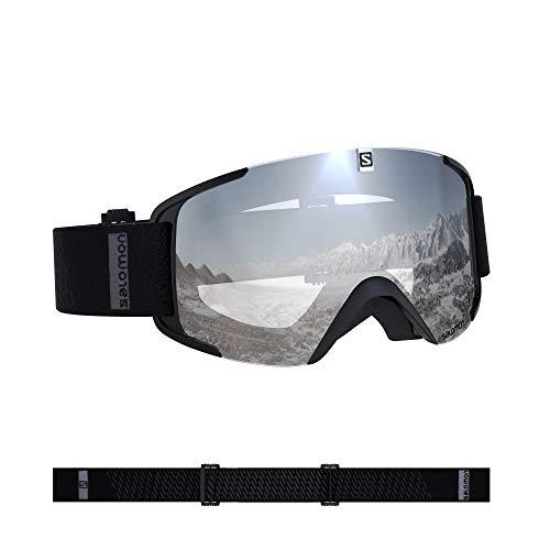 Salomon, Xview, Unisex-Skibrille, Schwarz/Universal Super White, L40844300