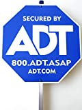 Security ADT Yard Sign 10' x 10' with Aluminum Post 30''