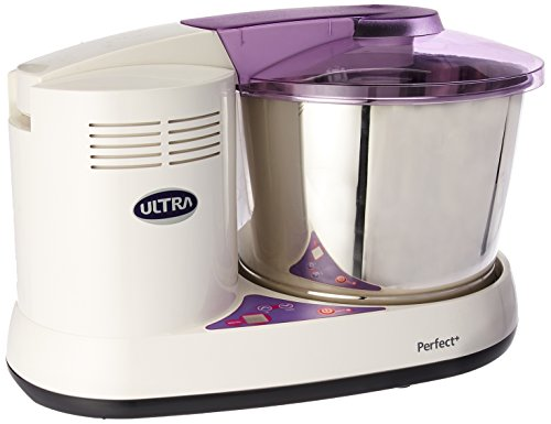 Ultra Perfect+ Table Top 2 Liter Wet Grinder with Atta Kneader & Digital Timer, 110-volt, Purple