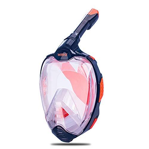 RatenKont Máscara de Buceo de Buceo de Cara Completa para Gafas Juveniles Adultos MÁSCARA DE NATACIÓN DE Snorkel Color 01 S/M