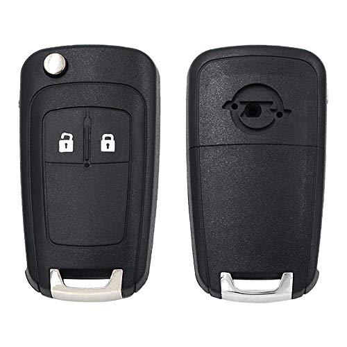 Hkgk 2-Tasten-Auto-Funkschlüssel-Gehäuse für Opel/Vauxhall Adam Astra J Insignia Mokka Zafira C Schlüssel Set