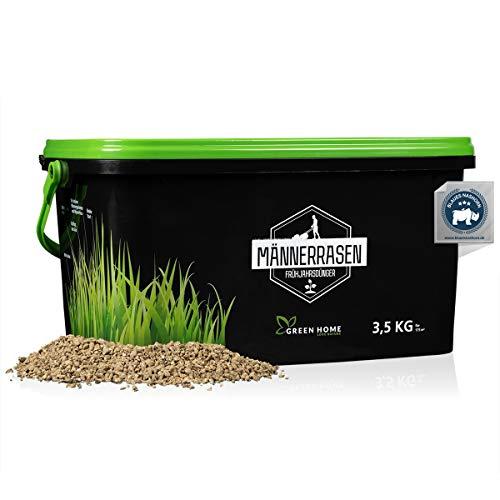 Green Home® Rasendünger Frühjahr - 3,5kg High Tech Rasendünger für Frühjahr schützt vor Moos - Frühjahrsdünger Rasen mit beeindruckender Wirkung - Gebinde 100{0bebbd0fa235aaa94bd5511236f256518a11cb745bb6ec92ba6b352ce6146f3d} recycelt - Made in Germany