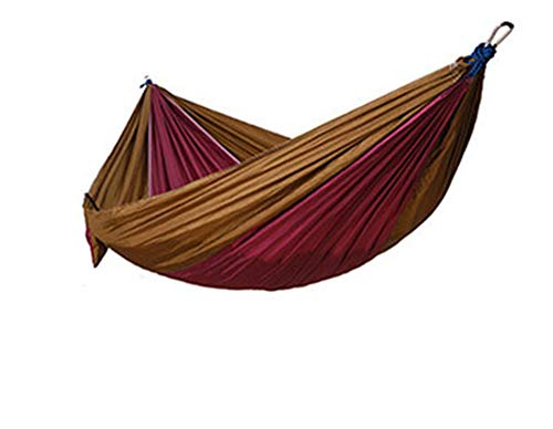 Double Hammock - Lightweight Parachute Portable Hammocks for Hiking, Travel, Backpacking, Beach (Multicolor 6,270140CM)