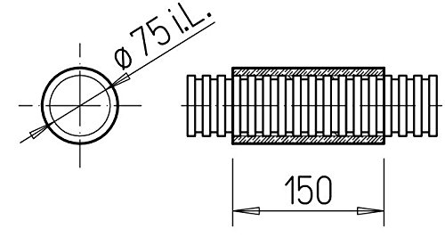 Helios FlexPipe Verbindungsmuffe FRS-VM 75 Ø 75 mm