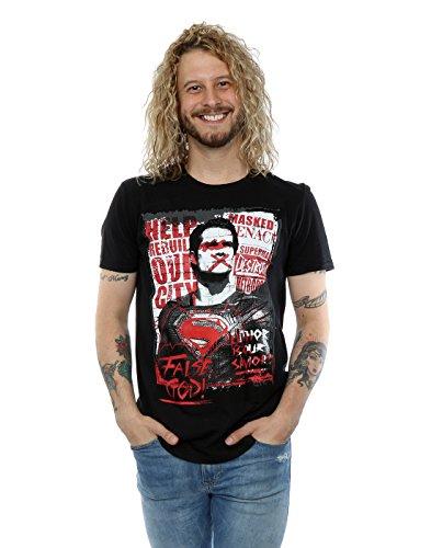 Dc comics Homme Batman v Superman False God T-Shirt XXX-Large Noir