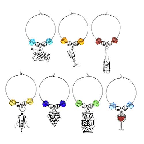 Wine Theme Gifts Wine Lover Drink Rings Wine Glass Tag Birthday Christmas Party Wine Charm