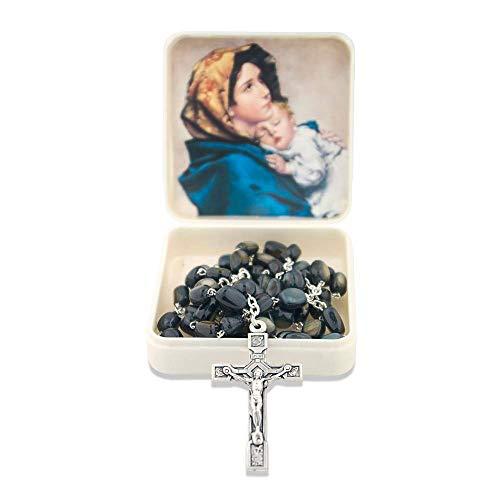 Vatican Imports Católica Rosario con Perlas de Piedra Natural