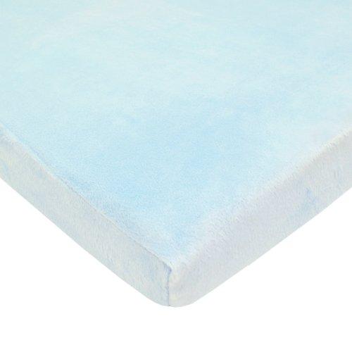 "Mini Lençol de Berço de Chenille Macio Heavenly TL Care, Azul, Mini Crib (24"" X 38"" X 5"")"