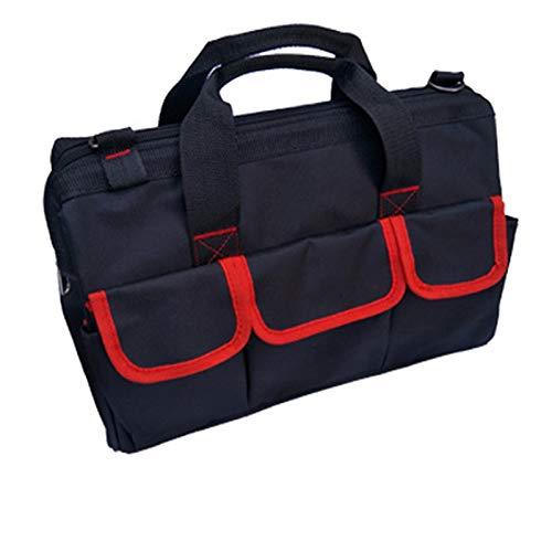 Tool Bag,CinturóN Para Herramientas 17'Reparación multifunción multifunción de alta calidad Bolsa de herramientas de electricista Single Hombro Oxford Paño Impermeable Gran Capacidad 600D