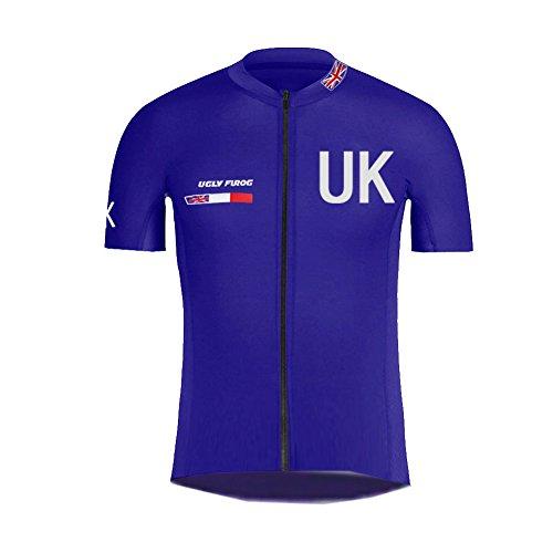 Uglyfrog Neue Frühling Jersey Herren Fahrradbekleidung Gemütlich Trikot Kurzarm Radfahren Jersey Kurze Hülsen Fahrradtrikot England Nationalmannschaft