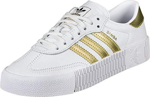 adidas SAMBAROSE W, Zapatillas para Mujer, Blanco Gold Met./FTWR White 10013402, 36 EU