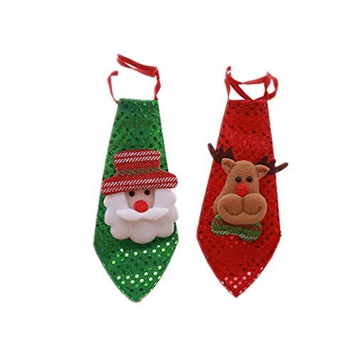 TOYANDONA 2 Piezas Creativo Navidad Corbata muñeco de Nieve Corbata Traje de Navidad para niños niña niño niño