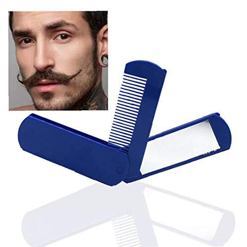 1pc Voyage Pliant Peigne Avec Peigne Miroir Miroir De Poche Compact Kit 2 En 1 Mini Brosse À Cheveux Pour Voyage Ou Utilisation À Domicile (bleu)