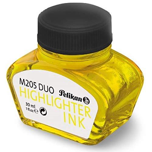 Pelikan 344879 - Tinta para pluma estilográfica 4001, frasco de vidrio de 30 ml, color amarillo fluorescente