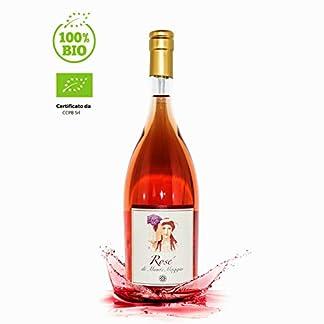 Rose-di-Montemaggio-Toskanischer-Bio-Roswein-Trockener-Luxuriser-Edler-Organisch-100-Sangiovese-Wein-aus-Italien-Glaskorken-Fattoria-di-Montemaggio-075L