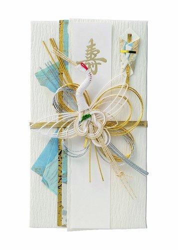 マルアイ 祝儀袋 結婚式 デザイン 和風 インクジェット対応 短冊 鶴 ブルー 1枚 GP-キ14