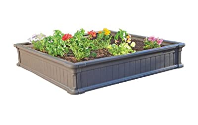 Lifetime Raised Garden Bed Kit, 4 Feet by 4 Feet