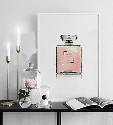 DXNB Nordic linnen olieverfschilderij poster decoratie wandsticker woonkamer slaapkamer modern mode parfum afbeelding A60x80cm