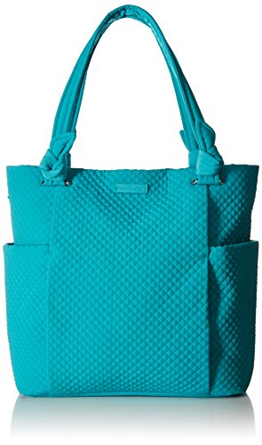 Vera Bradley Women's Microfiber Hadley Tote Bag, Turquoise Sea