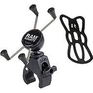 RAM Mounts X-Grip Large Phone Mount with RAM Snap-Link Tough-Claw RAM-HOL-UN10-400U for Motorcycle, ATV/UTV, Bike