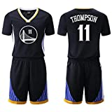NBA Baloncesto Ropa Traje Masculino Golden State Warriors Negro Camiseta con el número 30 Curry, Nº 35, Durant, 11 Thompson, Green No. 23 Basketball Vest (Color : Black vest11, Size : XL)