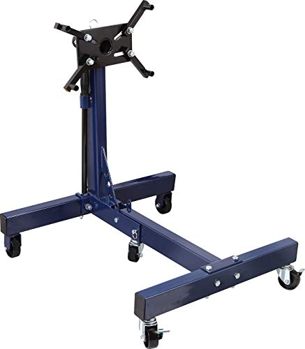 TCE AT26801U Torin Steel Rotating Engine Stand with 360 Degree Rotating Head and Folding Frame: 3/4 Ton (1,500 lb) Capacity, Blue