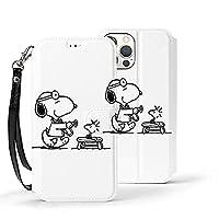 snoopy スヌーピー iPhone12ケース iPhone12Pro ケース 6.1インチ iPhone 12 mini ケース 手帳型 iPhone 12 Pro Max ケース 6.7インチ 対応 カード収納 スタンド機能 軽量 高級PUレザー サイドマグネット式 全面保護 耐衝撃 2020年新型 6.1インチ アイフォン12 \/アイフォン12 Pro (ホワイト,iPhone 12 mini) (Iphone12 Pro,ホワイト)