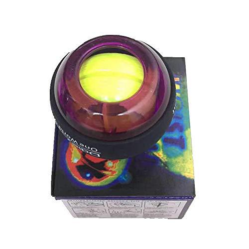 XIAOTAIZINAI Energetic Power Ball Gyroskop Force Gyro Handgelenk Arm Trainingsgerät Handbuch Trainer Schwenkbare Fitnessgeräte Bizeps Trizeps Training-LILA