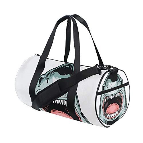 AJINGA Bolsa de viaje con diseño de cabeza de leopardo con correas de mochila para gimnasio