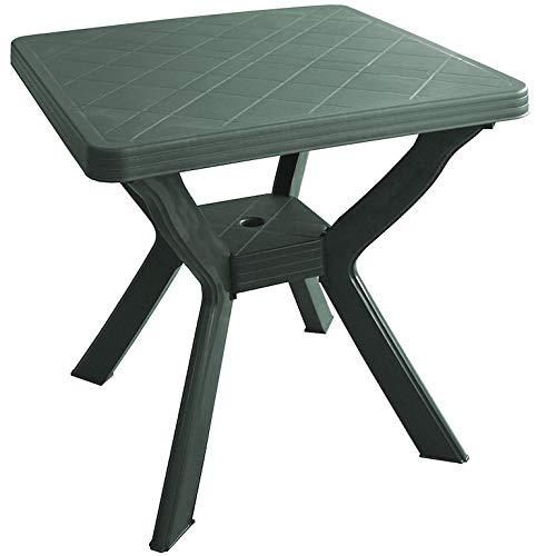 SF SAVINO FILIPPO Tavolo tavolino Quadrato in Resina di plastica Verde per Esterno Giardino Bar 4 posti