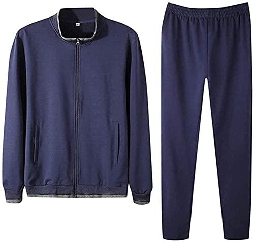 Dealism Men Tracksuit Athletic Casual Slim Fit Tracksuit Athletic Solid Sweatshirt Sport Suits&Sets Gym Sweatsuit