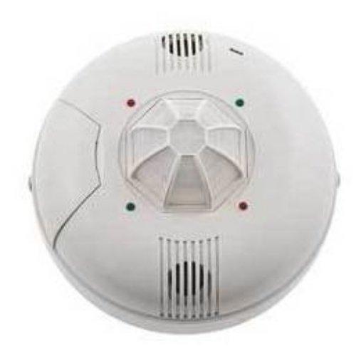 Hubbell LVPR1500R Line Voltage Ceiling Sensor, Dual Technology, White, 360 Degree Detection Angle, 1500sqft Max Sensing Range, 120-347VAC Voltage