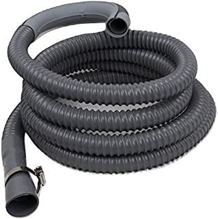 12 Feet - Washing Machine Drain Discharge Hose by Zulu Supply, Heavy Duty Corrugated Rubber, Universal Size, Fits Most Washing Machine Drain Discharge Outlets, Large, XL, Extra Long, Extension