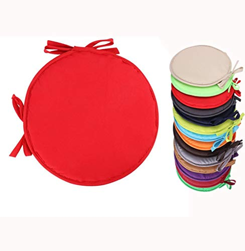 Round Chair Cushion With Ties Seat Pads For Dining Chairs Kitchen Garden Italian Fabric Removable Cover Indoor Outdoor Seat Pad Cushions Living Room Patio Office Shop,I