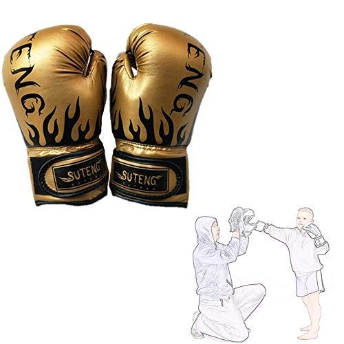 Box Handschuh Herren Boxhandschuhe Boxhandschuhe Männer Boxing Gloves Cheap Boxing Gloves Junior Boxing Gloves Punch Gloves Boxing Gloves for Kickboxing Gold,Adult