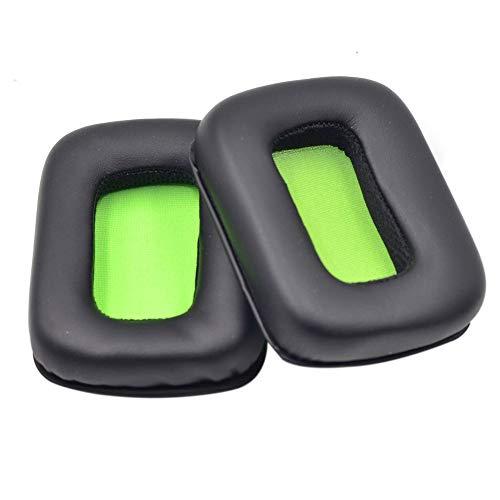 Cleme Ohrpolster, 1 Paar Stereo-Headset, abnehmbar, massives Schaumstoff, weiches Kissen, einfache Installation, Reparatur-Ersatzteile für Mad Catz Tritton Kunai, grün, Free Size