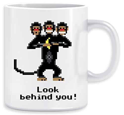 Dreiköpfige Affe Kaffeebecher Becher Tassen Ceramic Mug Cup