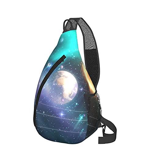 Mochila de viaje senderismo Daypack 3D gráfico impreso Crossbody bolso de hombro, color Rojo, talla Talla única