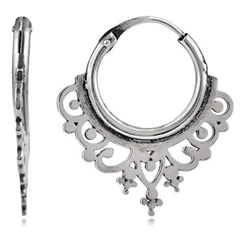 Córdoba Jewels | Pendientes en plata de ley 925 con diseño Aros Labrados
