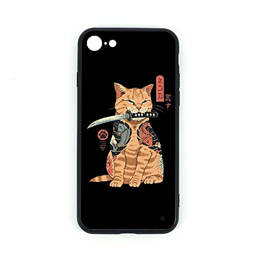 Cover per iPhone 7/8 Catana in vetro temperato + silicone TPU vetro cellulare caso per iphone 7 iphone 8