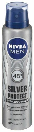 Nivea Men Silver Protect Anti-Transpirant Spray, 6er Pack (6 x 150 ml)