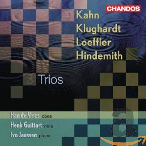 Trios Pour Hautbois, Alto & Piano : Khan, Klughardt, Loeffler, Hindemith