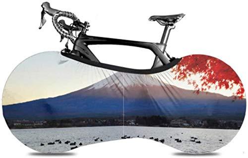 Cubierta de rueda Mt. Fuji View Lake Kawaguchiko Fall Antipolvo Bicicleta Bolsa de almacenamiento interior Resistente a los arañazos Lavable Altamente elástico Embalaje de neumáticos Carretera M