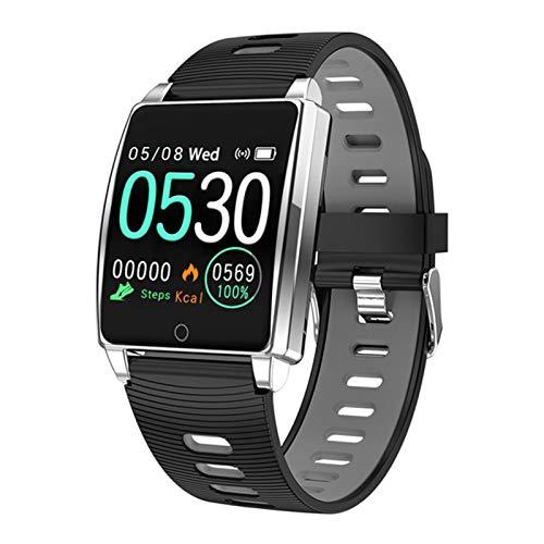 ZGLXZ Relojes Inteligentes para Hombres Y Mujeres Bluetooth Impermeable Monitor De Ritmo Cardíaco Pulsera Inteligente Presión Sanguínea Smartwatch Health Sports Watch Band para Android iOS,E