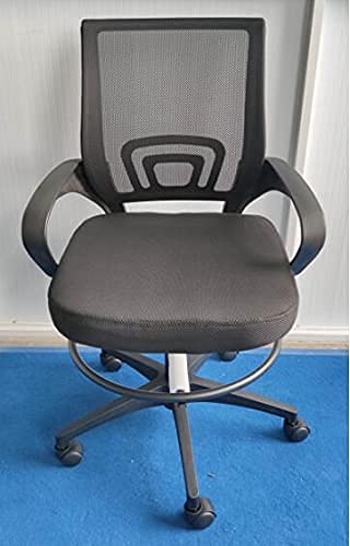 Furmax Ergonomic Drafting Chair Tall Office Chair Swivel Task Chair with Arms Footrest Ring Back Support